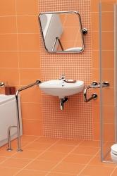 CERSANIT - Rukojeť 50x70 - vertikální/ vodorovná, levá pro WC a sprchové kouty (K97-032), fotografie 4/3