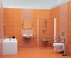 CERSANIT - Nástěnné madlo 75 pro WC, pohyblivé  (K97-035), fotografie 2/3