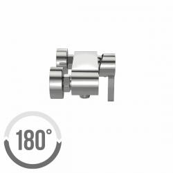CERSANIT - Sprchová baterie LUVIO jednopáková, nástěnná, bez přepínače, CHROM (S951-037), fotografie 2/2