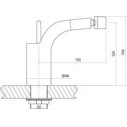 CERSANIT - Bidetová baterie LUVIO jednopáková, jednootvorová, stojánková, bez přepínače, CHROM (S951-017), fotografie 4/4