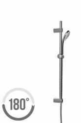 CERSANIT - Sprchová souprava s tyčí a posuvným držákem VIBE, 3 funkční, průměr ruční sprchy 8,5cm, kovová hadice dlouhá 150cm, kovová tyč 70cm s posuvným držákem a montážní sadou (S951-021), fotografie 4/3