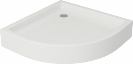 CERSANIT - Sprchová vanička TAKO 80x16, čtvrtkruh, BUILT-IN-PANEL CW (S204-003)