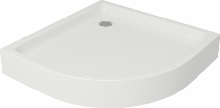 CERSANIT - Sprchová vanička TAKO 90x16, čtvrtkruh, BUILT-IN-PANEL CW (S204-004)