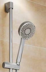 CERSANIT - Sprchová souprava s tyčí a posuvným držákem NENO, 5 funkční, průměr ruční sprchy 10cm, kovová hadice dlouhá 200cm, kovová tyč 80cm s posuvným držákem a montážní sadou (S951-019), fotografie 6/3