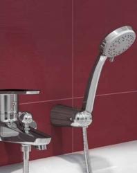 CERSANIT - Sprchová souprava s bodovým držákem MODI, 3 funkční, průměr ruční sprchy 8,5cm, kovová hadice dlouhá 150cm, s bodovým držákem a montážní sadou (S951-023), fotografie 6/3