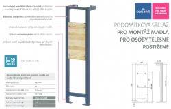 CERSANIT - Podomítková steláž pro montáž madla pro osoby tělesně postižené (K97-122), fotografie 4/2