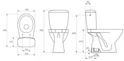 CERSANIT - WC kombi KASKADA 207 020 3/6,  sedátko polypropylenové (K100-207), fotografie 2/1