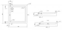 CERSANIT - Sprchová vanička TAKO 90x16, čtverec, BUILT-IN-PANEL CW (S204-012), fotografie 4/2