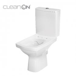 CERSANIT - WC KOMBI 606 EASY NEW CLEANON 011 3/5 BEZ SEDÁTKA BOX  (K102-030), fotografie 10/8