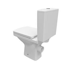 CERSANIT - WC KOMBI 606 EASY NEW CLEANON 011 3/5 BEZ SEDÁTKA BOX  (K102-030), fotografie 4/8