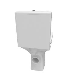 CERSANIT - WC KOMBI 606 EASY NEW CLEANON 011 3/5 BEZ SEDÁTKA BOX  (K102-030), fotografie 6/8