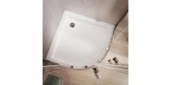CERSANIT - Sprchový kout čtvrtkruh 80 x190, R55, posuv, čiré sklo (S154-001), fotografie 8/5