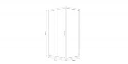 CERSANIT - Sprchový kout obdélník 100x80x190, posuv, čiré sklo (S154-003), fotografie 6/8