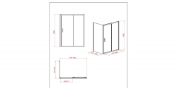CERSANIT - Sprchový kout obdélník 100x80x190, posuv, čiré sklo (S154-003), fotografie 4/8