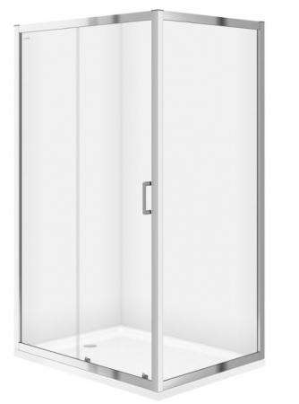 CERSANIT - Sprchový kout obdélník 100x80x190, posuv, čiré sklo (S154-003)