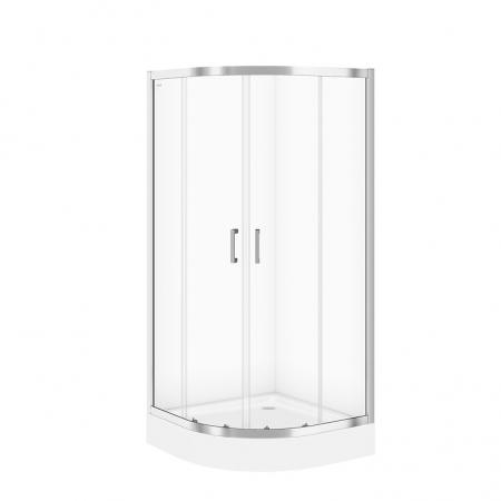 CERSANIT - Sprchový kout BASIC čtvrtkruh 80x185, posuv, čiré sklo (S158-003)