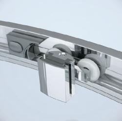 CERSANIT - Sprchový kout ARTECO čtvrtkruh 80x190, posuv, čiré sklo (S157-001), fotografie 2/4