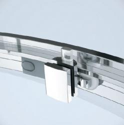 CERSANIT - Sprchový kout ARTECO čtvrtkruh 80x190, posuv, čiré sklo (S157-001), fotografie 4/4