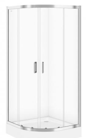 CERSANIT - Sprchový kout ARTECO čtvrtkruh 90x190, posuv, čiré sklo (S157-002)
