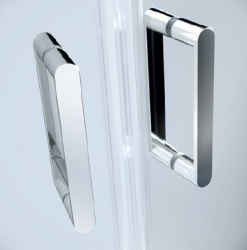 CERSANIT - Sprchové dveře ARTECO 80x190, kyvné, čiré sklo (S157-007), fotografie 2/3