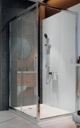 CERSANIT - Sprchový kout ARTECO obdélník 100x80x190, posuv, čiré sklo (S157-011), fotografie 4/4