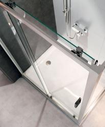 CERSANIT - Sprchový kout ARTECO obdélník 100x80x190, posuv, čiré sklo (S157-011), fotografie 6/4