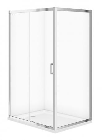 CERSANIT - Sprchový kout ARTECO obdélník 120x90x190, posuv, čiré sklo (S157-012)
