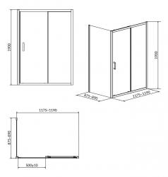 CERSANIT - Sprchový kout ARTECO obdélník 120x90x190, posuv, čiré sklo (S157-012), fotografie 8/4