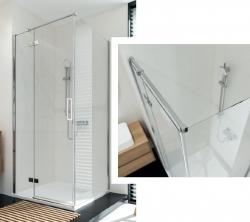CERSANIT - Sprchový kout JOTA čtverec 90x195, kyvný, levý, čiré sklo (S160-001), fotografie 2/9