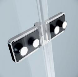 CERSANIT - Sprchový kout JOTA čtverec 90x195, kyvný, levý, čiré sklo (S160-001), fotografie 6/9