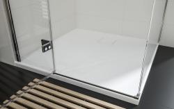 CERSANIT - Sprchový kout JOTA čtverec 90x195, kyvný, levý, čiré sklo (S160-001), fotografie 16/9