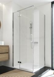 CERSANIT - Sprchový kout JOTA čtverec 90x195, kyvný, levý, čiré sklo (S160-001), fotografie 14/9