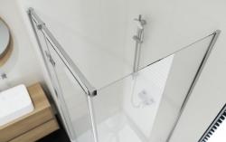 CERSANIT - Sprchový kout JOTA čtverec 90x195, kyvný, levý, čiré sklo (S160-001), fotografie 10/9