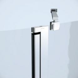 CERSANIT - Sprchový kout MODUO čtvrtkruh 80x195, kyvné, čiré sklo (S162-009), fotografie 6/7