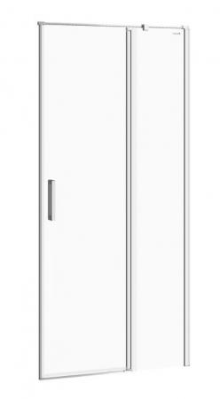 CERSANIT - Kyvné dveře s pevným polem MODUO 90x195, pravé, čiré sklo (S162-006)