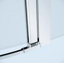 CERSANIT - Kyvné dveře s pevným polem MODUO 80x195, pravé, čiré sklo (S162-004), fotografie 2/5