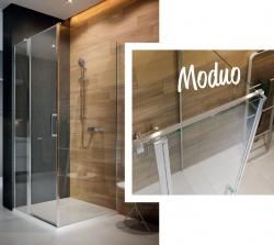 CERSANIT - Kyvné dveře s pevným polem MODUO 80x195, levé, čiré sklo (S162-003), fotografie 4/5