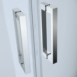 CERSANIT - Kyvné dveře s pevným polem MODUO 80x195, levé, čiré sklo (S162-003), fotografie 8/5