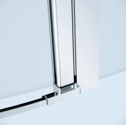CERSANIT - Kyvné dveře s pevným polem MODUO 80x195, levé, čiré sklo (S162-003), fotografie 2/5