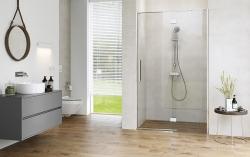 CERSANIT - Sprchové dveře s panty CREA 120x200, levé, čiré sklo (S159-003), fotografie 8/9
