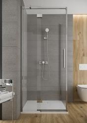 CERSANIT - Sprchové dveře s panty CREA 120x200, levé, čiré sklo (S159-003), fotografie 16/9