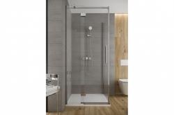CERSANIT - Sprchové dveře s panty CREA 90x200, levé, čiré sklo (S159-005), fotografie 2/6