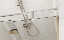 CERSANIT - Sprchové dveře s panty CREA 90x200, levé, čiré sklo (S159-005), fotografie 4/6
