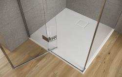 CERSANIT - Sprchové dveře s panty CREA 90x200, levé, čiré sklo (S159-005), fotografie 8/6