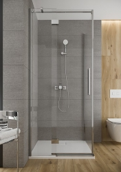CERSANIT - Sprchové dveře s panty CREA 90x200, levé, čiré sklo (S159-005), fotografie 10/6