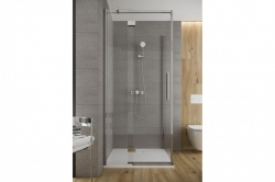 CERSANIT - Sprchové dveře s panty CREA 90x200, pravé, čiré sklo (S159-006), fotografie 2/6