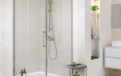 CERSANIT - Sprchové posuvné dveře CREA 120x200, čiré sklo (S159-007), fotografie 6/4