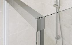 CERSANIT - Sprchové posuvné dveře CREA 140x200, čiré sklo (S159-008), fotografie 2/4