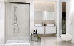 CERSANIT - Sprchové posuvné dveře CREA 140x200, čiré sklo (S159-008), fotografie 4/4