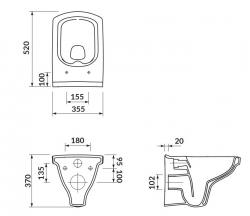 CERSANIT - ZÁVĚSNÁ MÍSA EASY NEW CLEANON BOX (K102-026), fotografie 2/4